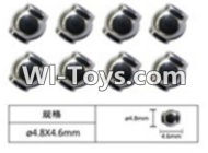 FeiYue FY-02 Spare Parts-63-01 W12056 Ball head sleeve(8pcs)-4.8X4.6mm,FeiYue FY-02 RC Car Parts,FY02 FY-02 RC Truck Spare parts Accessories,1:12 4WD High Speed Buggy Parts