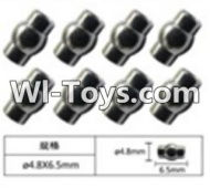 FeiYue FY-02 Spare Parts-63-02 W12055 Ball head sleeve(8pcs)-4.8X6.5mm,FeiYue FY-02 RC Car Parts,FY02 FY-02 RC Truck Spare parts Accessories,1:12 4WD High Speed Buggy Parts