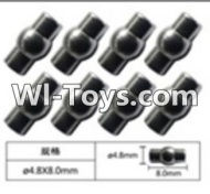 FeiYue FY-02 Spare Parts-63-04 W12054 Ball head sleeve(8pcs)-4.8X8mm,FeiYue FY-02 RC Car Parts,FY02 FY-02 RC Truck Spare parts Accessories,1:12 4WD High Speed Buggy Parts