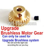 FeiYue FY03 FY-03 Upgrade Motor gear(Can only be used for Upgrade Brushless set,We will according the car you buy to sent you the right version size),FeiYue FY-03 RC Car Parts,FY-03 RC Truck Spare parts Accessories,1:12 4WD High Speed Buggy P