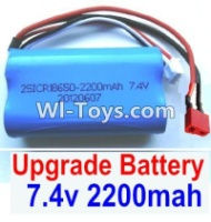 FeiYue FY03 FY-03 Upgrade Battery Parts-7.4V 2200MAH Battery With T-Shape Plug(1pcs)-Size-65X38X18mm Parts-,FeiYue FY03 Parts