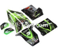 FeiYue FY03 FY-03 Body Shell Parts-Desert Car Surface Cover-Green Parts-FY-CM03,FeiYue FY03 Parts