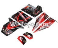 FeiYue FY03 FY-03 Body Shell Parts-Desert Car Surface Cover-Red Parts-FY-CM03,FeiYue FY03 Parts