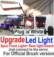 FeiYue FY03 FY-03 Upgrade Front and Rear light assembly-Can only be used for Official Brush version,Plug is white color Parts-,FeiYue FY03 Parts