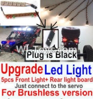 FeiYue FY03 FY-03 Upgrade Front and Rear light assembly-Can only be used for Upgrade Brushless version,Plug is Black Parts-,FeiYue FY03 Parts