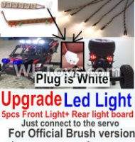 FeiYue FY-04 Spare Parts-42-07 Upgrade Front and Rear light assembly-Can only be used for Official Brush version,Plug is white color,FeiYue FY-04 RC Car Parts,FY04 FY-04 RC Motorcycle Truck Spare parts Accessories,1:12 4WD High Speed Buggy Parts
