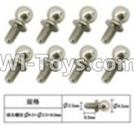 FeiYue FY-04 Spare Parts-60-15 W12057 Inner Hexagon Ball head screws(8pcs)-2.5X4.8X6mm,FeiYue FY-04 RC Car Parts,FY04 FY-04 RC Motorcycle Truck Spare parts Accessories,1:12 4WD High Speed Buggy Parts