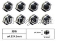 FeiYue FY-04 Spare Parts-63-01 W12056 Ball head sleeve(8pcs)-4.8X4.6mm,FeiYue FY-04 RC Car Parts,FY04 FY-04 RC Motorcycle Truck Spare parts Accessories,1:12 4WD High Speed Buggy Parts