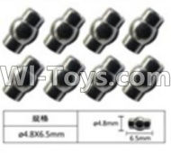 FeiYue FY-04 Spare Parts-63-02 W12055 Ball head sleeve(8pcs)-4.8X6.5mm,FeiYue FY-04 RC Car Parts,FY04 FY-04 RC Motorcycle Truck Spare parts Accessories,1:12 4WD High Speed Buggy Parts