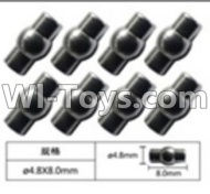 FeiYue FY-04 Spare Parts-63-04 W12054 Ball head sleeve(8pcs)-4.8X8mm,FeiYue FY-04 RC Car Parts,FY04 FY-04 RC Motorcycle Truck Spare parts Accessories,1:12 4WD High Speed Buggy Parts