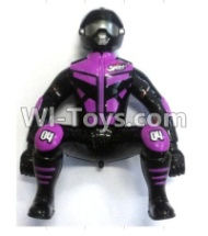 FeiYue FY-04 Spare Parts-64-01 FY-CS01 Motorcycle driver doll-Purple,FeiYue FY-04 RC Car Parts,FY04 FY-04 RC Motorcycle Truck Spare parts Accessories,1:12 4WD High Speed Buggy Parts