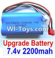 FeiYue FY-05 Spare Parts-35-02 Upgrade 7.4V 2200MAH Battery With T-Shape Plug(1pcs)-Size-65X38X18mm,FeiYue FY-05 RC Car Parts,FY05 FY-05 RC Truck Spare parts Accessories,1:12 4WD High Speed Buggy Parts