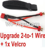 FeiYue FY-05 Spare Parts-35-05 Upgrade 2-to-1 wire and Velcro-Two battery can use together,Run 2x Time than usual,FeiYue FY-05 RC Car Parts,FY05 FY-05 RC Truck Spare parts Accessories,1:12 4WD High Speed Buggy Parts