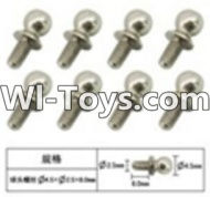 FeiYue FY-05 Spare Parts-60-15 W12057 Inner Hexagon Ball head screws(8pcs)-2.5X4.8X6mm,FeiYue FY-05 RC Car Parts,FY05 FY-05 RC Truck Spare parts Accessories,1:12 4WD High Speed Buggy Parts