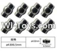 FeiYue FY-05 Spare Parts-63-02 W12055 Ball head sleeve(8pcs)-4.8X6.5mm,FeiYue FY-05 RC Car Parts,FY05 FY-05 RC Truck Spare parts Accessories,1:12 4WD High Speed Buggy Parts