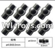 FeiYue FY-05 Spare Parts-63-04 W12054 Ball head sleeve(8pcs)-4.8X8mm,FeiYue FY-05 RC Car Parts,FY05 FY-05 RC Truck Spare parts Accessories,1:12 4WD High Speed Buggy Parts