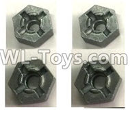 FeiYue FY-11 Spare Parts-23 C12069 Hexagonal wheel seat(4pcs),FY11 FY-11 RC Racing Car Truck Spare parts Accessories,1:12 4WD High Speed RC Buggy Parts