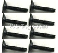 FeiYue FY-11 Spare Parts-56-02 XLF-1003 2X11 Screws(8pcs),FY11 FY-11 RC Racing Car Truck Spare parts Accessories,1:12 4WD High Speed RC Buggy Parts