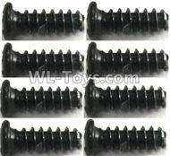 FeiYue FY-11 Spare Parts-56-04 XLF-1007 2.6X8 Screws(8pcs),FY11 FY-11 RC Racing Car Truck Spare parts Accessories,1:12 4WD High Speed RC Buggy Parts