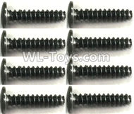 FeiYue FY-11 Spare Parts-56-05 XLF1008 2.5X12PM Screws(8pcs),FY11 FY-11 RC Racing Car Truck Spare parts Accessories,1:12 4WD High Speed RC Buggy Parts