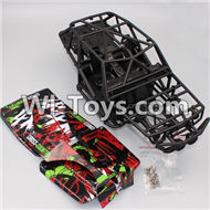 HB P1001 Car Parts-01 Car frame and Car seat(Color random to sent it out),HB P1001 RC 4WD Rock Crawler Spare parts Accessories,HB 1:10 4WD High Speed Buggy Parts