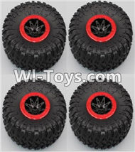 HB P1001 Car Parts-06-04 Whole wheel unit(4 set)-Red,HB P1001 RC 4WD Rock Crawler Spare parts Accessories,HB 1:10 4WD High Speed Buggy Parts