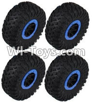 HB P1001 Car Parts-06-05 Whole wheel unit(4 set)-Blue,HB P1001 RC 4WD Rock Crawler Spare parts Accessories,HB 1:10 4WD High Speed Buggy Parts