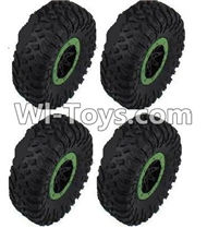 HB P1001 Car Parts-06-06 Whole wheel unit(4 set)-Green,HB P1001 RC 4WD Rock Crawler Spare parts Accessories,HB 1:10 4WD High Speed Buggy Parts