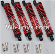 HB P1001 Car Parts-07-04 Shock Absorber(4pcs)-Red,HB P1001 RC 4WD Rock Crawler Spare parts Accessories,HB 1:10 4WD High Speed Buggy Parts