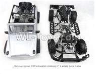 HG P407 Whole Car Empty frame(Not include the Electrical device and Battery),HG P407 RC Truck Spare parts Accessories,HG P407 1:10 RC Car Parts