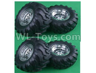 HG P407 ASS-13 Whole wheel assembly(Include the tire lether and Wheel hub)-4 Set,HG P407 RC Truck Spare parts Accessories,HG P407 1:10 RC Car Parts