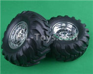 HG P407 ASS-13 Whole wheel assembly(Include the tire lether and Wheel hub)-2 Set,HG P407 RC Truck Spare parts Accessories,HG P407 1:10 RC Car Parts