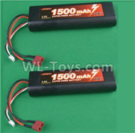 HG P407 B7415 7.4V 1500mAH Battery(2pcs),HG P407 RC Truck Spare parts Accessories,HG P407 1:10 RC Car Parts