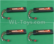 HG P407 B7415 7.4V 1500mAH Battery(4pcs),HG P407 RC Truck Spare parts Accessories,HG P407 1:10 RC Car Parts