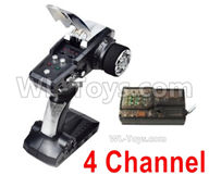 HG P408 Parts-4 Channel Transmitter + 4 Channel Receiver,HG P408 Kfor Parts,HG P408 Humvee RTR Parts