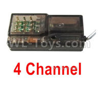 HG P408 Parts-4 Channel Receiver(Can only be used for the 4 channel Transmitter)-HG-RX2,HG P408 Kfor Parts,HG P408 Humvee RTR Parts