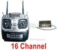 HG P408 Parts-16 Channel Transmitter + 16 Channel Receiver,HG P408 Kfor Parts,HG P408 Humvee RTR Parts