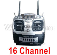 HG P408 Parts-16 Channel Transmitter,Remote control-YK002,HG P408 Kfor Parts,HG P408 Humvee RTR Parts