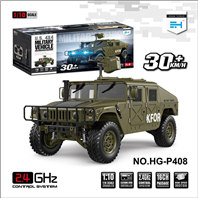 HG P408 rc car,HG P408 Kfor,HG P408 Humvee RTR,HG 1/10 RC 4X4 Hummer Military Vehicle With ESC Motor Radio Light Sound