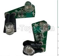 HG P408 Parts-Rear Steering Light board(Left + Right)-HMDZ-(002-003),HG P408 Kfor Parts,HG P408 Humvee RTR Parts