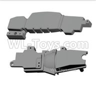 HG P408 Parts-Bottom fuel tank cap+bottom frame-HMVEE-(083-084),HG P408 Kfor Parts,HG P408 Humvee RTR Parts