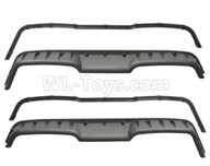 HG P601 Parts-Rear wheel plate + fixed strip set Parts-P10097+098+099+100,HG P601 RC Truck Parts 6x6 1/10 Parts