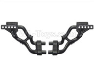 HG P601 Parts-Rear bumper bracket Left and Right Parts-P10104+105,HG P601 RC Truck Parts 6x6 1/10 Parts