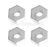 HG P601 Parts-Hexagon wheel seat,Tire adapter(4pcs) Parts-H01004,HG P601 RC Truck Parts 6x6 1/10 Parts