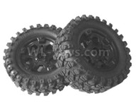 HG P601 Parts-Whole Wheel unit(2 set) Parts-HG Parts-CL02,HG P601 RC Truck Parts 6x6 1/10 Parts