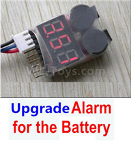 HG P601 Parts-Upgrade Alarm for the Battery,Can test whether your battery has enouth power,HG P601 RC Truck Parts 6x6 1/10 Parts