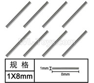 HG P601 Parts-Optical axis(8pcs) Parts-1x8mm-W01001,HG P601 RC Truck Parts 6x6 1/10 Parts