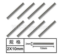 HG P601 Parts-Optical axis(8pcs) Parts-2x10mm-W01002,HG P601 RC Truck Parts 6x6 1/10 Parts