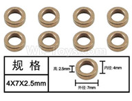 HG P601 Parts-Bearing-Oil bearing(8pcs) Parts-4x7x2.5mm-W04003,HG P601 RC Truck Parts 6x6 1/10 Parts