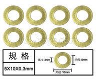HG P601 Parts-washer(8pcs) Parts-5x10x0.3mm-W04010,HG P601 RC Truck Parts 6x6 1/10 Parts